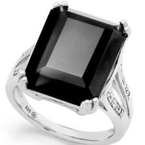 Onyx Sterling Silver Ring Size 8